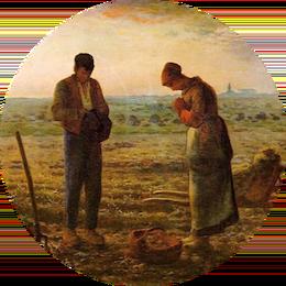 vignette angelus millet prière